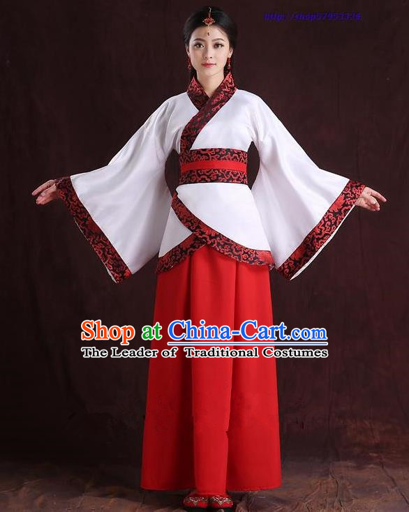 Traditional Ancient Chinese Imperial Emperess Costume, Chinese Han Dynasty Dance Dress, Cosplay Chinese Peri Imperial Princess Wedding Clothing Hanfu for Women