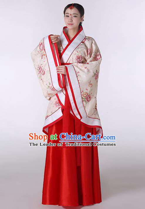 Traditional Ancient Chinese Imperial Emperess Costume, Chinese Han Dynasty Wedding Dress, Cosplay Chinese Peri Imperial Princess Clothing Hanfu for Women