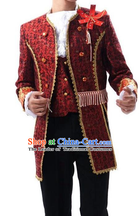 Traditional Ancient European Male Clothing, European Palace Court Stage Costumes for Men