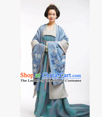 Traditional Ancient Chinese Imperial Emperess Costume, Chinese Tang Dynasty Wedding Dress, Cosplay Chinese Peri Imperial Princess Tailing Embroidered Clothing for Women