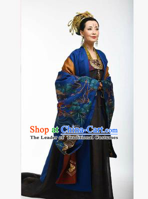 Traditional Ancient Chinese Imperial Emperess Costume, Chinese Tang Dynasty Wedding Dress, Cosplay Chinese Peri Imperial Empress Dowager Tailing Embroidered Clothing for Women
