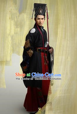 Traditional Ancient Chinese Imperial Emperor Costume, Chinese Tang Dynasty King Dress, Cosplay Chinese Imperial Majesty Clothing for Men