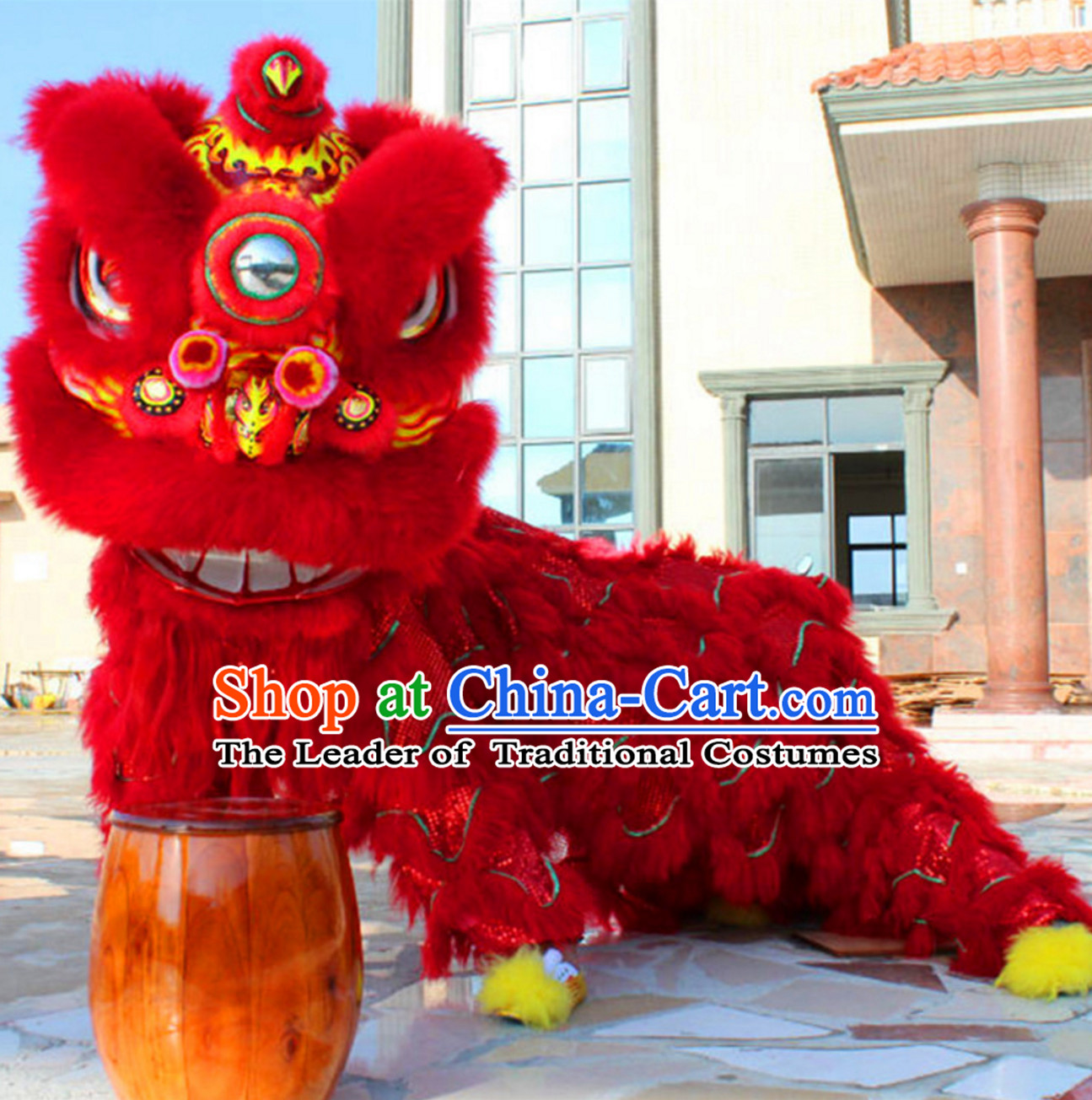 NEW 100% Natural Wool Supreme Chinese Lion Dance Costumes Complete Set