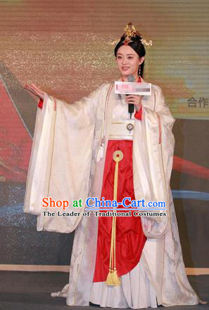 Traditional Ancient Chinese Imperial Lady Costume Complete Set, Chinese Han Dynasty Lady Dress, Cosplay Chinese Imperial Princess Clothing for Women