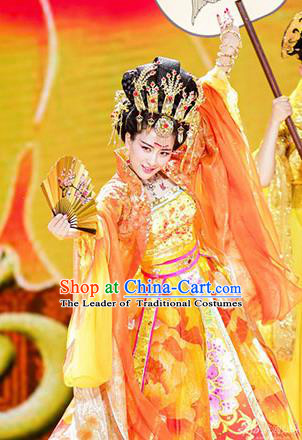 Traditional Ancient Chinese Imperial Emperess Costume, Chinese Tang Dynasty Dress, Cosplay Lady Yang Chinese Imperial Consort Clothing for Women