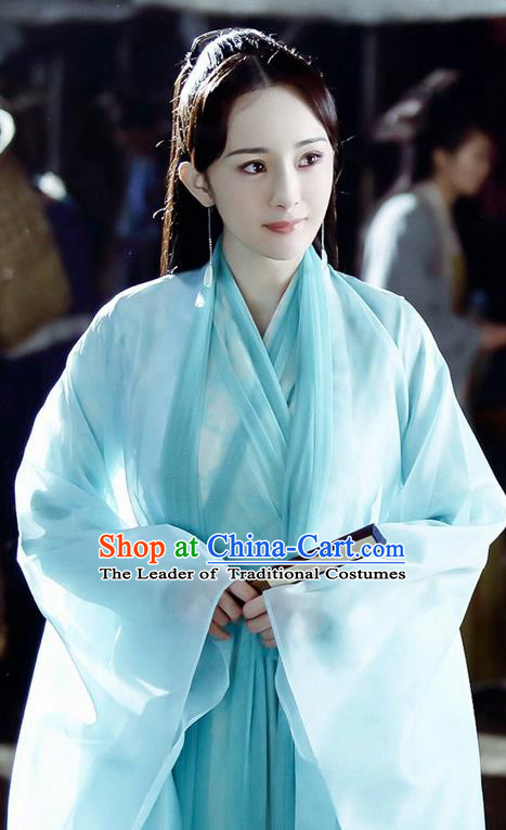 Traditional Ancient Chinese Imperial Emperess Costume, Chinese Han Dynasty Young Lady Dress, Cosplay Fairy Tale Chinese Teleplay Ten great III of peach blossom Role Bai qian Peri Imperial Princess Hanfu Clothing for Women