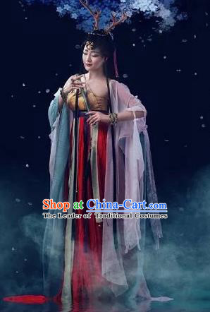 Traditional Ancient Chinese Imperial Princess Costume, Chinese Tang Dynasty Young Lady Dress, Cosplay Chinese Princess Clothing Red Hanfu for Women