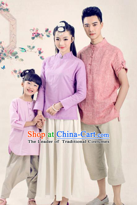 Traditional Ancient Chinese Family Costume Complete Set, Chinese Han Dynasty Parent-Child Pregnant Woman Dress, Cosplay Chinese Family Portrait Clothing Hanfu for Women for Men for Children