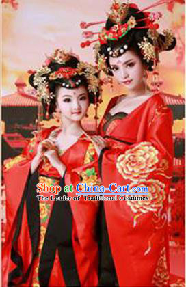 Traditional Ancient Chinese Imperial Princess Costume, Chinese Tang Dynasty Children Dance Dress, Cosplay Chinese Princess Clothing Hanfu for Kids