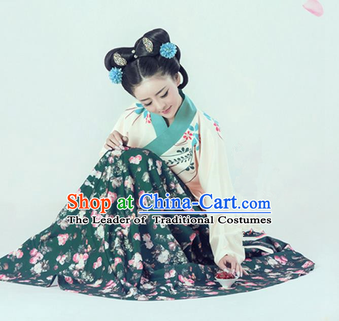 Traditional Ancient Chinese Imperial Emperess Costume, Chinese Han Dynasty Lady Dress, Cosplay Chinese Imperial Princess Clothing Hanfu for Women