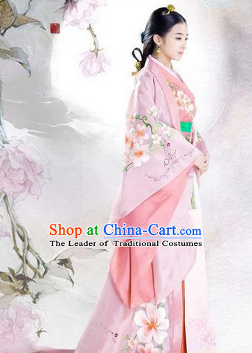 Traditional Ancient Chinese Imperial Emperess Costume, Chinese Han Dynasty Young Lady Dress, Cosplay Chinese Princess Consort Clothing Hanfu for Women