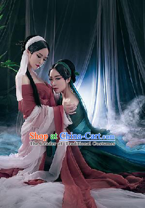 Traditional Ancient Chinese Swordswoman Costume, Chinese Song Dynasty Fairy Dress, Cosplay Game Character Chinese Peri Princess Clothing for Women