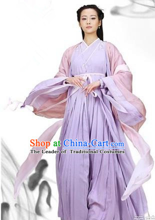 Traditional Ancient Chinese Swordswoman Costume, Chinese Han Dynasty Fairy Elegant Dress, Cosplay Game Character Chinese Peri Princess Clothing for Women