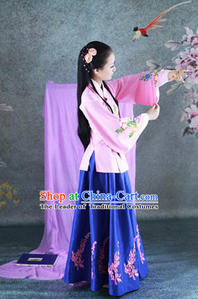 Traditional Ancient Chinese Imperial Princess Costume, Chinese Han Dynasty Children Dance Dress, Chinese Peri Imperial Lady Hanfu Clothing for Kids