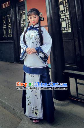 Traditional Ancient Chinese Costume Xiuhe Suit, Chinese Late Qing Dynasty Female Dress, Republic of China Embroidered Ink Painting Clothing for Women