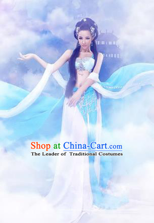 Traditional Ancient Chinese Flying Imperial Consort Costume, Chinese Han Dynasty Flying Lady Dress, Cosplay Chinese Fairy Imperial Concubine Clothing Hanfu for Women