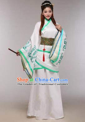 Traditional Ancient Chinese Imperial Emperess Costume, Chinese Han Dynasty Princess Dress, Cosplay Chinese Peri Concubine Embroidered Hanfu Clothing for Women
