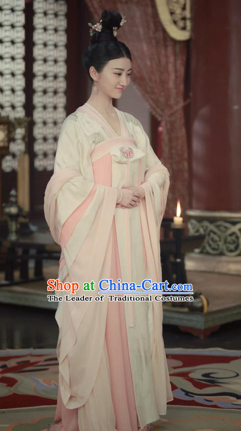 Traditional Ancient Chinese Imperial Empress Costume, Elegant Hanfu Palace Lady Queen Dress, Chinese Tang Dynasty Imperial Empress Tailing Embroidered Clothing for Women
