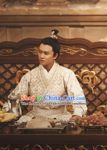 Traditional Ancient Chinese Nobility Childe Costume, Elegant Hanfu Male Lordling Dress, Tang Dynasty Prince Clothing, China Imperial Crown Prince Embroidered Clothing for Men