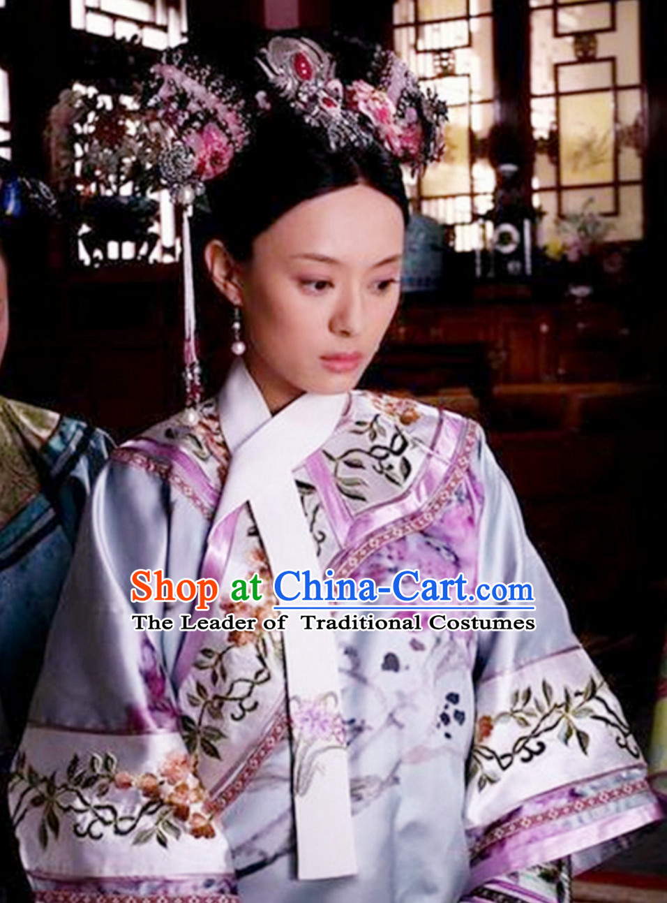 Qing Dynasty Zhen Huan Legend Empress Costumes Clothing for Ladies