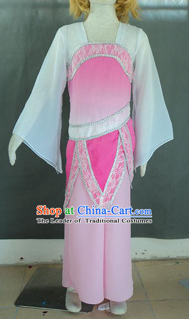 Traditional Chinese Ancient Yangge Fan Dancing Costume, Folk Dance Children Uniforms, Classic Tang Dynasty Dance Elegant Fairy Dress Drum Palace Dance Clothing for Kids