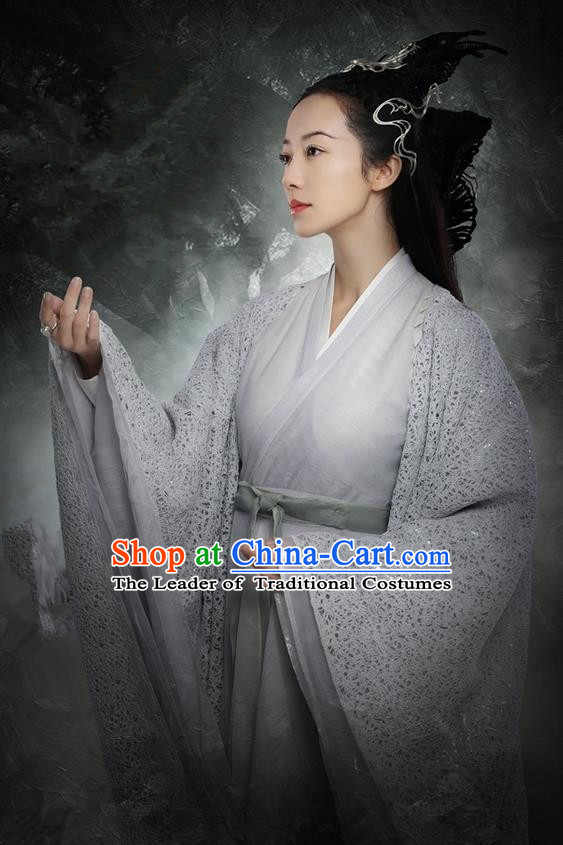 Traditional Ancient Chinese Imperial Concubine Costume, Elegant Hanfu Western Wei Dynasty Imperial Consort Clothing, Chinese Northern Dynasties Imperial Princess Embroidered Tailing Clothing for Women
