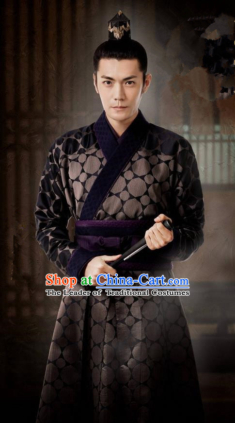 Traditional Ancient Chinese Nobility Childe Costume, Elegant Hanfu Western Wei Dynasty Prince Swordsman Clothing, Chinese Northern Dynasties Aristocratic Clothing for Men