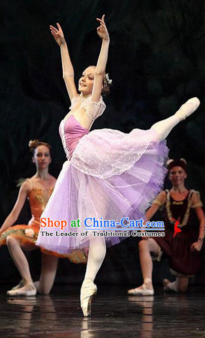 Traditional Modern Dancing Compere Costume, Female Opening Classic Chorus Singing Group Dance Pink Bell Dress Tu Tu Dancewear, Modern Dance Classic Ballet Dance Elegant Dress for Women