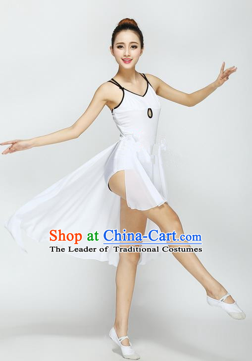 Traditional Chinese Yangge Fan Dancing Costume, Folk Dance Yangko Uniforms, Classic Jasmine Flower Fan Dance Short Dress Elegant Drum Dance Clothing for Women