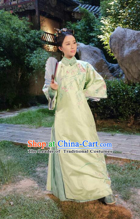 Traditional Ancient Chinese Imperial Princess Costume, Chinese Qing Dynasty Manchu Palace Lady Manchu Nobility Dress, Chinese Legend of Dragon Ball Mandarin Fermale Robes, Ancient China Imperial Concubine Embroidered Clothing for Women