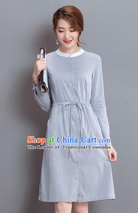 Traditional Ancient Chinese National Costume, Elegant Hanfu Long Sleeve Dress, China Tang Suit Cheongsam Upper Outer Garment Elegant Dress Clothing for Women