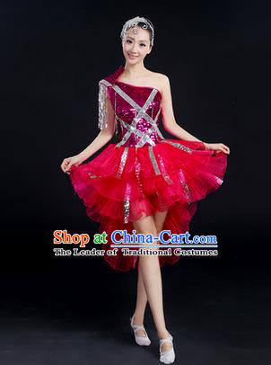 Traditional Chinese Modern Dancing Costume, Women Opening Dance Costume, Modern Dance Latin Dance Dress for Women