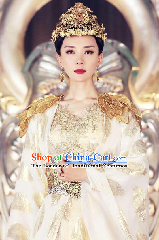 Traditional Ancient Chinese Imperial Empress Costume, Elegant Hanfu Immortal Clothing, Chinese Aristocratic Queen Consort Embroidered Clothing for Women