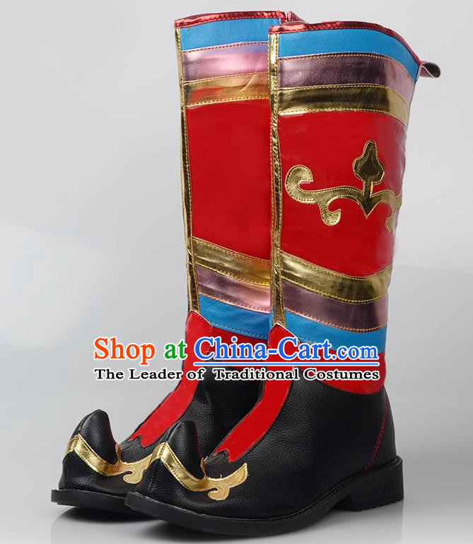 Traditional Chinese Minority Mongol Nationality Ethnic Minorities Mongolian Boots Mongolian Boots Tanks Boots for Women