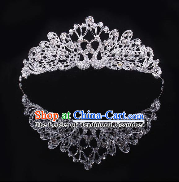 Top Grade Handmade Chinese Classical Hair Accessories, Children Baroque Style Headband Princess Royal Crown Crystal Coronet, Hair Sticks Hair Jewellery, Hair Clasp for Kids Girls