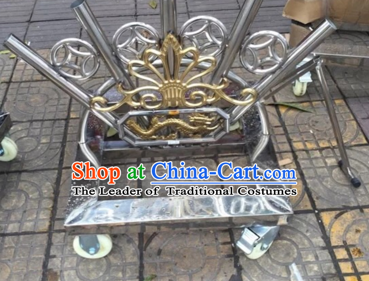 Traditional Chinese Big Banner Holder Giant Flag Cart