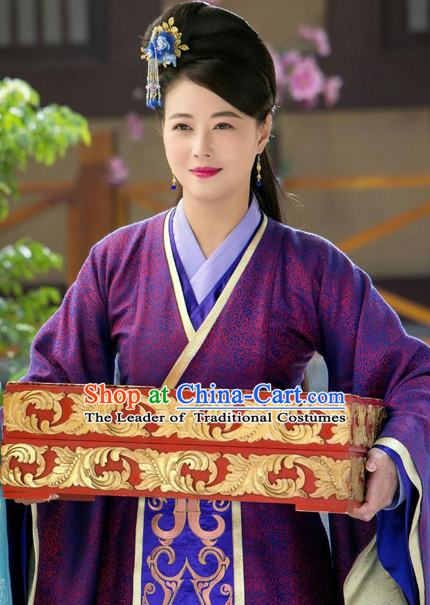 Chinese Teleplay Flower Shabana Flyings Sky Palace Gentlewoman Dance Dress, Traditional Chinese Ancient Song Dynasty Imperial Consort Costume and Headpiece Complete Set for Women