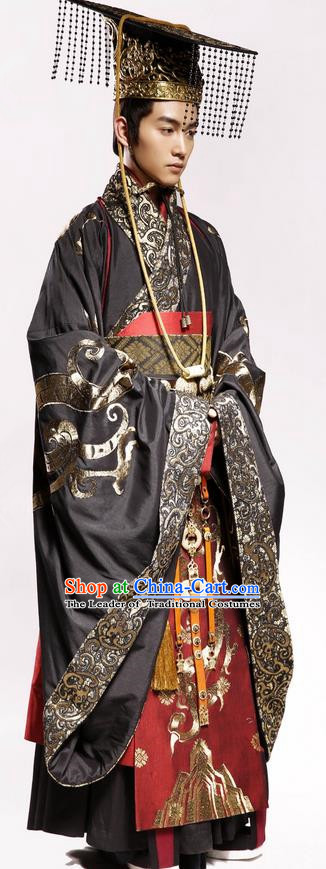 3ae3fbd70 Traditional Chinese Ancient Emperor Costumes And Hat Complete Set Chinese  Teleplay Above The Clouds Role Sc 1 St China-Cart