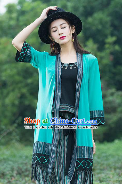 Traditional Ancient Chinese National Costume, Elegant Hanfu Cardigan Coat, China Tang Suit Cape, Upper Outer Garment Cloak Clothing for Women
