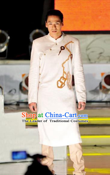 Traditional Top Grade Asian Vietnamese Costumes, Vietnam National Bridegroom Clothing for Men