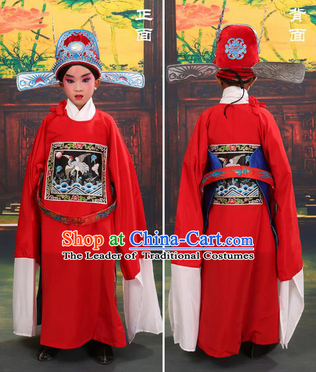 China Peking Opera Gifted Youth Man Costume Embroidered Robe Opera Costumes