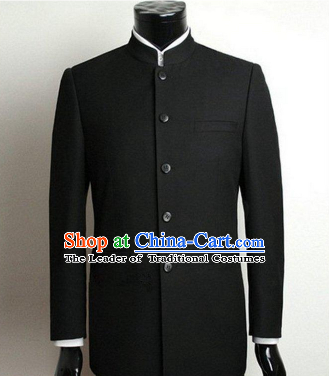 Formal Chinese Black Wedding Tang Suit