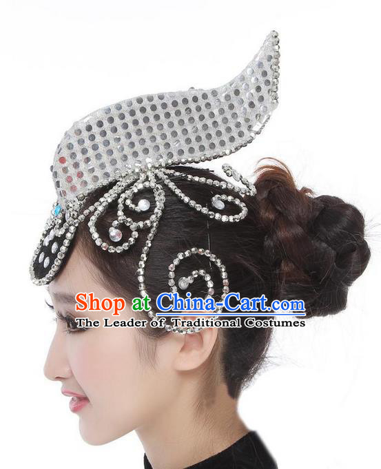 Traditional Chinese Classical Hair Accessories, China Female Folk Dance Forehead Ornament Headwear for Women