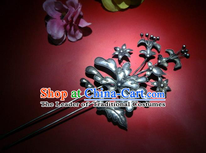 Traditional Handmade Chinese Ancient Classical Hair Accessories Barrettes Step Shake Hair Sticks, Hair Fascinators Hairpins for Women