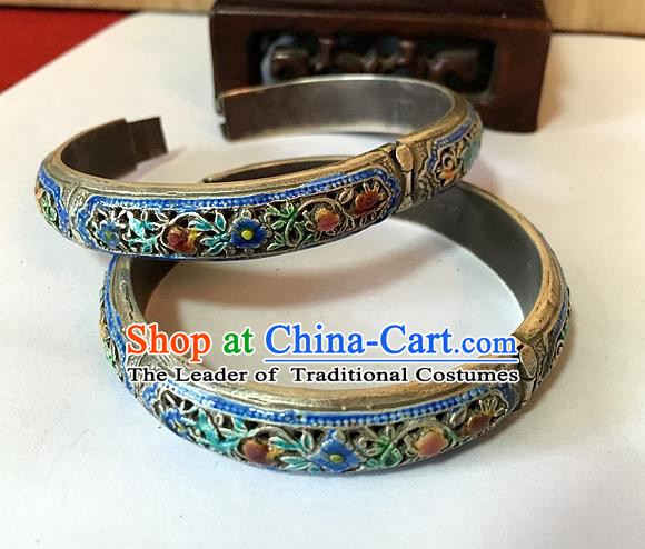 Traditional Chinese Miao Nationality Accessories Blueing