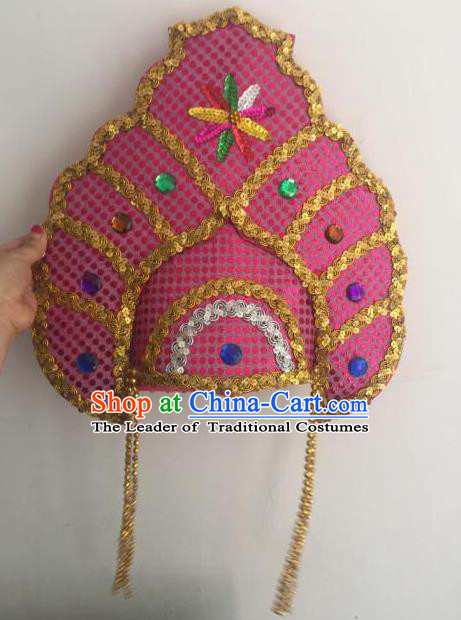 Top Grade Professional Stage Show Halloween Headpiece Hat, Brazilian Rio Carnival Samba Opening Dance Headwear Headdress