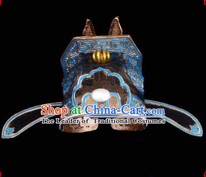 Chinese Ancient Peking Opera Accessories Bird Demon Headwear, Traditional Chinese Beijing Opera Lang Scholar Hats