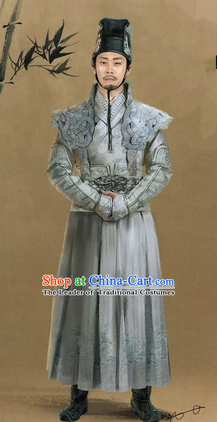 Traditional Ancient Chinese Swordswoman Imperial Bodyguard Costume, Films Brotherhood of Blades Chinese Ming Dynasty Blades Clothing and Handmade Headpiece Complete Set