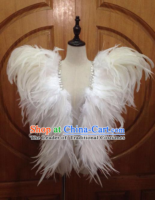 Top Grade Professional Performance Catwalks Clothing, Traditional Brazilian Rio Carnival Samba Modern Fancywork Feather Costume for Men