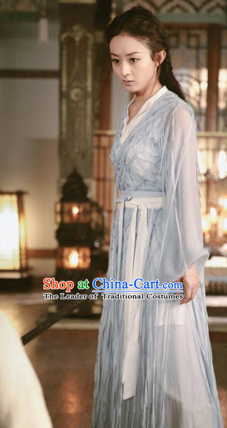 Traditional Ancient Chinese Northern and Southern Dynasties Young Lady Costume, Princess Agents Northern Wei Dynasty Swordswoman Clothing and Headpiece Complete Set